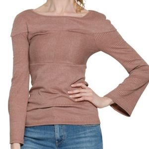 Walter Baker NWT Kristen Rose M cut out ribbed top